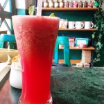 The watermelon juice at Cafe Turtle, very good!