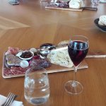 Charcuterie served with glass of sparkling at Chandon