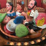 Fun pieces of collectible folk art paper mache