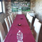 The long dinner table