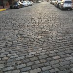 Cobblestone streets with a beautiful neighborhood