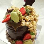 Chocolate Devil with popcorn