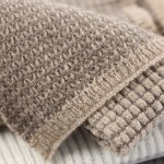sciarpa in puro cashmere bicolore