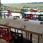Coffee Shop with Runway View