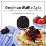 Oreo ile Waffle keyfi bambaşka