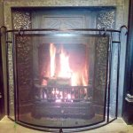 Restored Victorian fireplace at the end of the bar. Installed December 2015