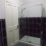 Bathrooms in one of our compact double rooms.