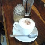 My Cappucino and water