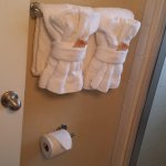 Nice thick towels provided daily