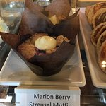 Marionberry streusel muffin