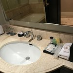 Jr Suite has 2 bathrooms, one with bath tub and one without.