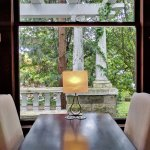 Table with View in the Fireplace Room