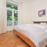 modern two-room apartment with oak parquet floor on the first floor,