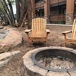 Nice fire pits right by the river. Firewood can be purchased at the hotel. Very nice touch.