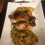 Djaj mashi- stuffed chicken and cous cous full of moroccan flavours