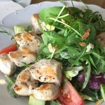 Delicious chicken salad.