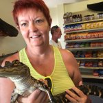 Me and the baby alligator they let you hold