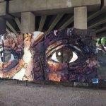 Art installation in Piedmont Park