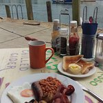 Lovely views over the harbour and breakfast.