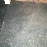 abgenutzter, Teppich (offensichtlich schon viele Male nass geworden!)