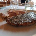 Bread with truffle spread
