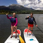 Mother daughter SUP lesson