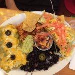 Beef taco, pork enchilada