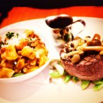 Beef tenderloin and Braised Brisket Gnocchi