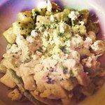 Ricotta asparagus oyster pesto gnocchi