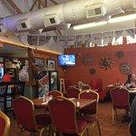 Bright, fun interior. Welcoming staff, good food!