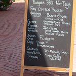 Menu board outside on upper street