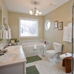 Shannaberry's garden bath with the deep, soaking tub and separate shower.
