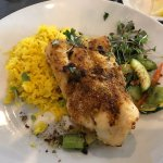Cod with rice and vegetables