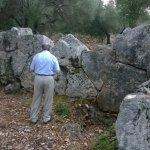 The ruins of Cyclopaen masonry walls near Argostoli, Cephalonia.