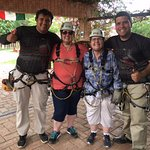 Ziplining with Roberto and Danny