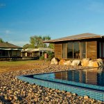 Next to the infinity pool is our conference room and then safari tents, a short walk away.
