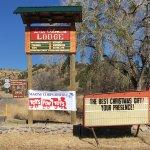 Los Olmos Lodge new highway sign