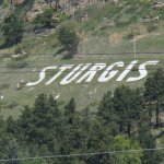 The Sturgis Sign on the hill side