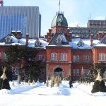 冬場の北海道庁赤レンガ庁舎