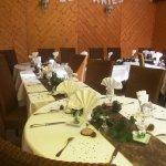 Détail de la décoration des tables