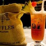 Singapore Sling at Raffles.