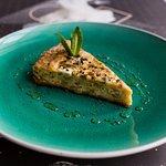 Zucchini,leek and gruyere tart