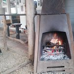 cozy wood heaters,lovely atmosphere