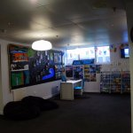 Reception area with plenty of guides and books about NZ.