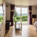 Spacious rooms with lovely views over the Tummel Valley