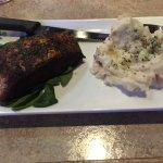 I had the blackened salmon with mashed potatoes
