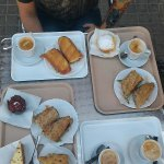Lovely sandwiches, pastries and coffee