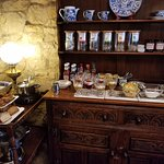 breakfast buffet with homemade breads