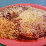 Enchiladas with Christmas