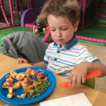 Delicious, generous, reasonably priced meals in the play barn cafe.